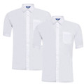 Boys Twin Pack Short Sleeve Shirt (Ayra)
