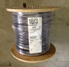 10/3 with ground HD jacketed submersible pump wire / cable, 4 conductors flat, 500 feet reel