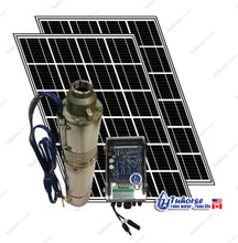4 solar water pump kit 500w 7gpm deep well pump kit for Solar panel cost for 1000 sq ft home