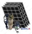 "4"" 500W Solar Submersible Deep Well Pump,  780W Solar Panel, 120 feet Cable Complete Kit"