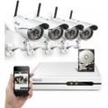 720P 4CH Wireless NVR System w/ 1TB HDD & 4 Wireless IP Cameras