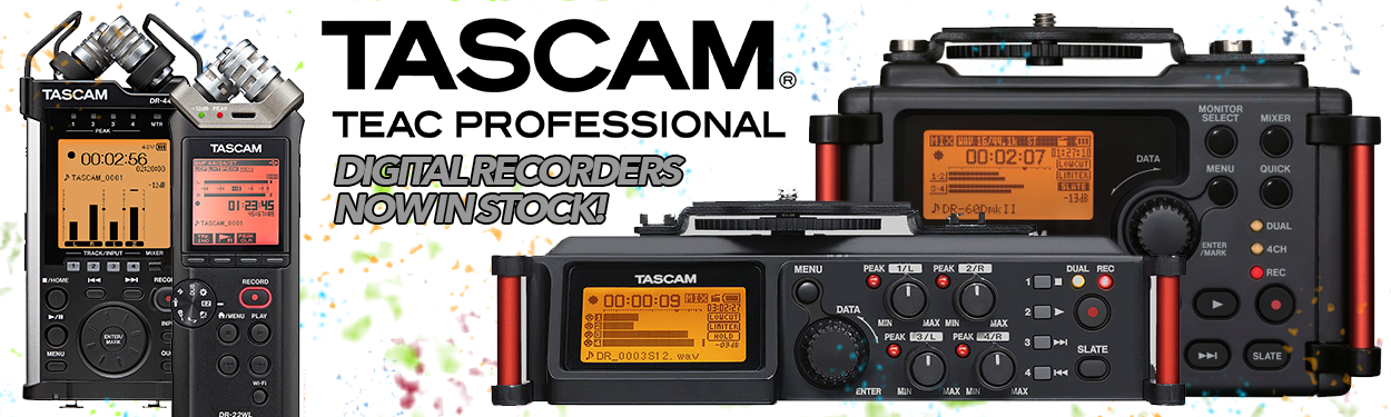 Tascam digital audio recorders