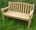 Aldeburgh Deluxe Curved Back 4ft Teak Bench