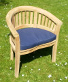 Deluxe Teak Banana Arm Chair teak garden furniture from chairsandtables.co.uk