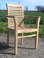 Lovina Teak Stacking Arm Chair teak garden furniture from chairsandtables.co.uk