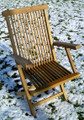 Deluxe Folding Teak Arm Chair teak garden furniture from chairsandtables.co.uk