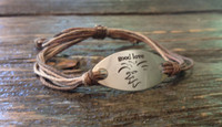 "The Salty Surfer tribal vibe ""good love"" safari sand hemp bracelet"