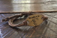 "The Salty Surfer tribal vibe ""live salty or die"" safari sand hemp bracelet"