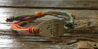 "The Salty Surfer tribal vibe ""live salty or die"" toucan hemp bracelet"