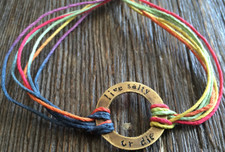 "The Salty Surfer tribal vibe circle ""live salty or die"" TOUCAN hemp bracelet"