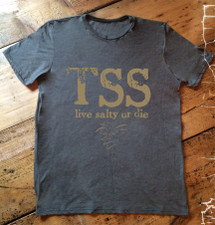 """The Salty Surfer Tribal Vibe """"TSS live salty or die""""shirt"""