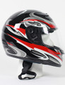 RZ80RG - DOT Full Face Red Graphic Motorcycle Helmet
