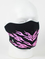 Face Mask - 1/2 Pink Flames Neoprene