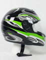 RZ80GG - DOT Full Face Green Graphic Motorcycle Helmet
