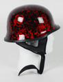 103BYR - DOT German BoneYard Red Motorcycle Helmet