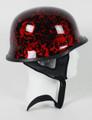 103BYR - DOT German BoneYard Red Motorcycle Helmet