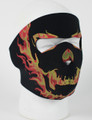 Face Mask - Blackout Skull Neoprene