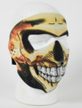 Face Mask - Skull Flame Inferno Face Neoprene
