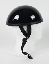 Classic Gloss Black Novelty Motorcycle Helmet