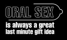 Oral sex is always a great last minute gift idea Motorcycle Helmet Sticker