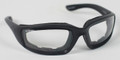 BIKER SUNGLASSES  - Foamerz 2 Sunglasses, Blk Frame, Anti-fog Clear, ANSI Z87