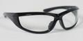 BIKER SUNGLASSES, Charger, Blk Frame, Anti-fog Clear Lens, ANSI Z87