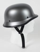 Gun Metal German Style Motorcycle Novelty Helmet