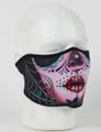Face Mask - 1/2 Sugar Skull Neoprene Half  Face Mask
