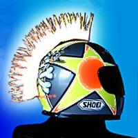 White Helmet mohawk