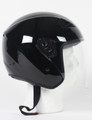 RK5B - Black DOT Motorcycle Helmet RK-5 Open Face with Flip Shield