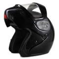 Black Snowmobile helmet