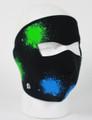 Face Mask - Glow in the Dark Splatter Neoprene
