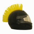 Motorcycle Helmet Mohawk - Yellow