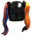 Motorcycle Helmet Pigtails - Multi
