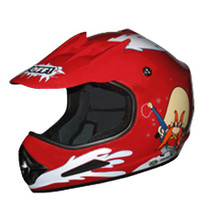 DOT ATV Dirt Bike MX Kids Red Back Off Motorcycle Helmet