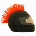 Orange Motorcycle Helmet Mohawk