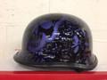Copy of 103BYB - DOT German BoneYard Blue Motorcycle Helmet