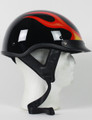 1F - DOT FLAME SHORTY MOTORCYCLE HELMET