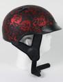 1FBYR - DOT Matte Bone Yard Red Motorcycle Helmet