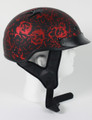 1FBYR - DOT Matte Bone Yard Red Motorcycle Helmet