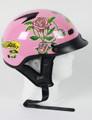 1VPR - Pink Lady Rider DOT Motorcycle Helmet