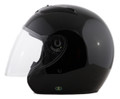 RKB - Black DOT Motorcycle Helmet Open Face with Flip Shield