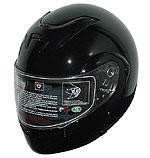 RODIA RF-4 BLACK MODULAR FULL FACE MOTORCYCLE HELMET