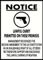 Guns Permitted Sign 1