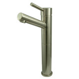 "satin nickel contemporary, modern 10"" vessel sink faucet by Kingston Brass and Complete Home Hardware"