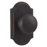 Molten Bronze Wexford Reversible Privacy Door Knob with Premiere Rosette - Oil Rubbed Bronze