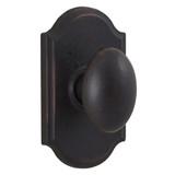 Molten Bronze Durham Reversible Privacy Door Knob with Premiere Rosette - Oil Rubbed Bronze