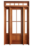 Mahogany Alexandria TDL 4LT 6/8 Single Door with 2 Sidelights and Rectangular Transom