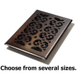 Oil Rubbed Bronze Decor Steel Floor Register