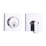 Weslock Chrome Square Single Cylinder Deadbolt